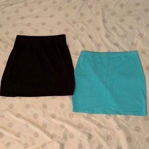 Lot of 2 Mini Skirts
